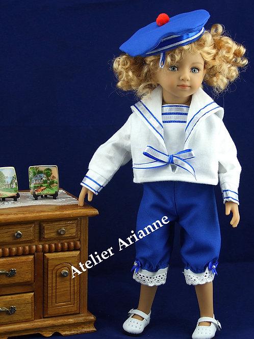 Tenue Petit Marin pour poupée Little Darling, Mini Maru , Chérie de Corolle...