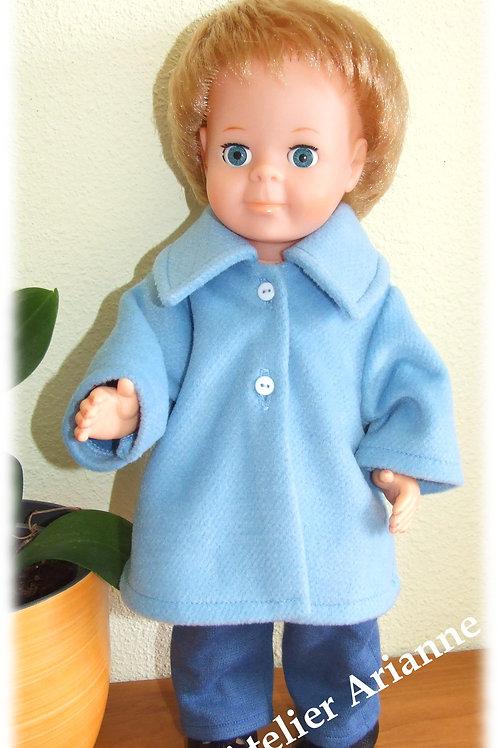 Manteau Novembre 1972 pour poupées Modes et Travaux Michel et Jean-Michel