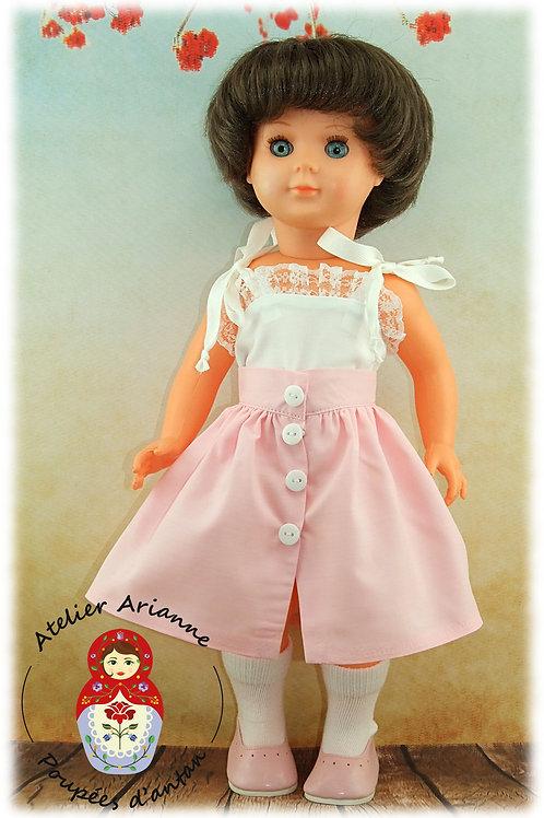 Juillet 1985 Tenue pour poupée Marie-Françoise de Modes et Travaux