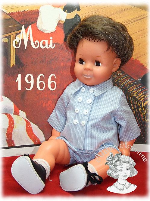 Tenue pour poupée Michel Modes et Travaux Mai 1966