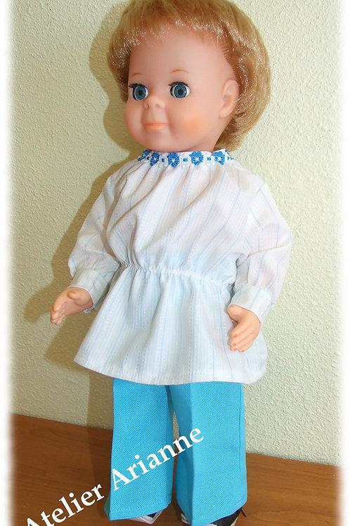 Tenue pour poupée  Jean-Michel Modes et Travaux Octobre 1976