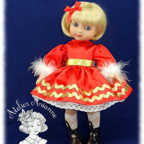 Reproduction de robe d'origine pour poupée Ann-Estelle 26 cm