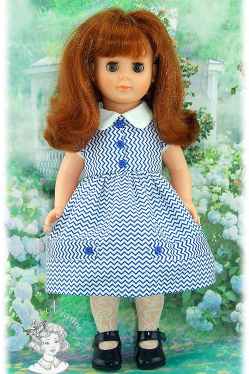Tenue pour poupée Françoise de Modes et Travaux-Juin 1957