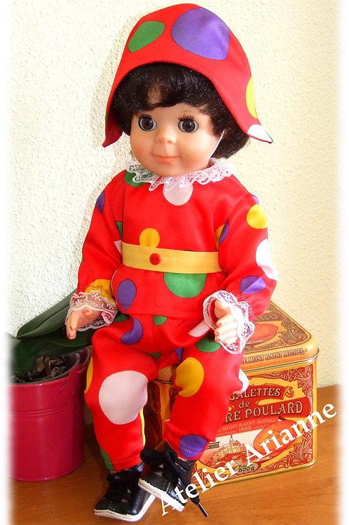 Tenue Décembre 1967 pour poupées Modes et Travaux, Michel , Jean-Michel