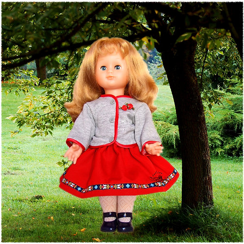 Tenue pour poupée Emilie Modes et Travaux Février 1990