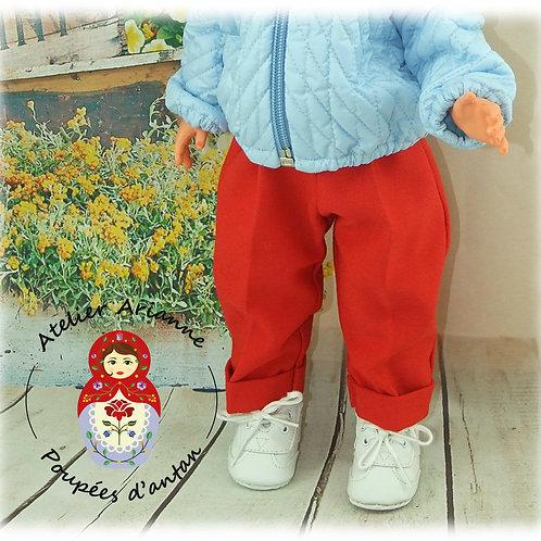 Lilou pantalon pour poupée Modes et Travaux