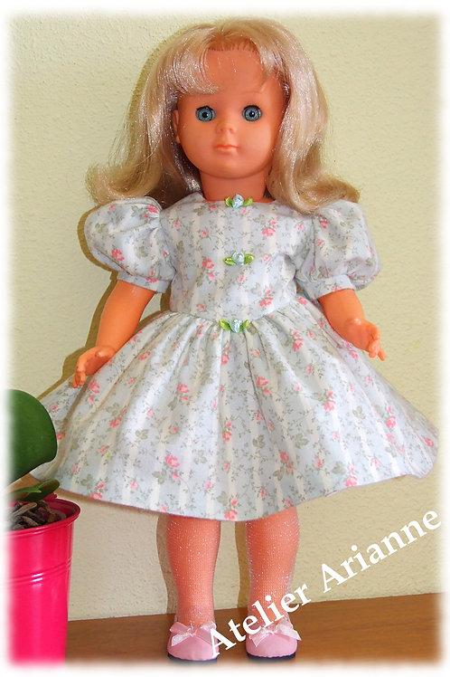 Tenue Rosa pour poupées Modes et Travaux , Marie-Françoise, Louise, Francette
