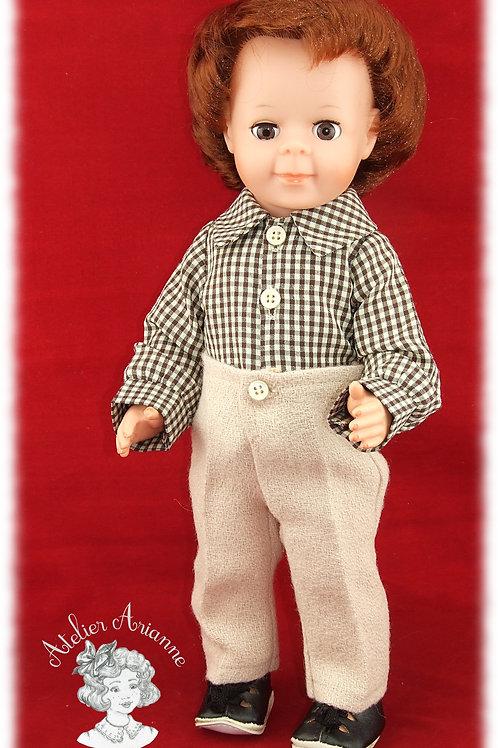 Adam Tenue pour poupée Jean-Michel de Modes et Travaux