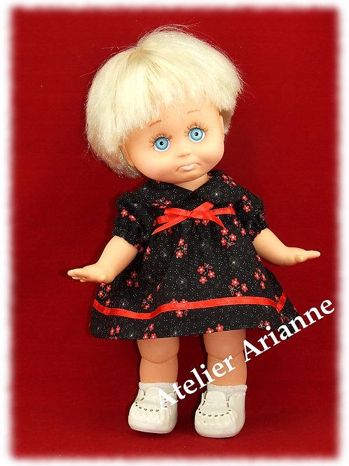 Tenue Parisette pour poupée Muller Witchel 31 cm ou baby Face 33 cm