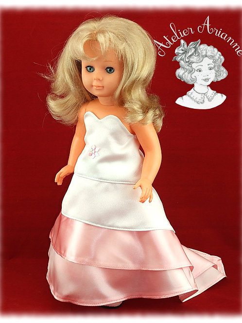 Princesse - robe et jupon pour poupée Marie Françoise