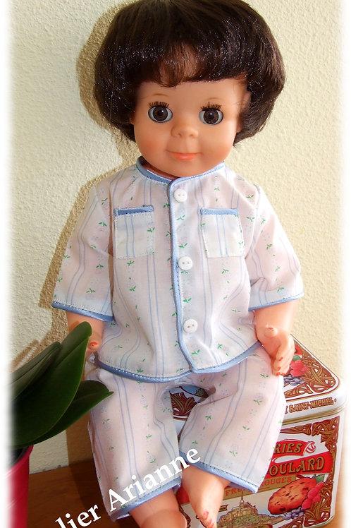 Tenue Décembre 1962 pour poupée de Modes et Travaux Michel, Jean-Michel