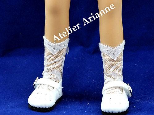 Chaussettes longues dentelle pour poupée Mini Maru, Little Darling, Minouche