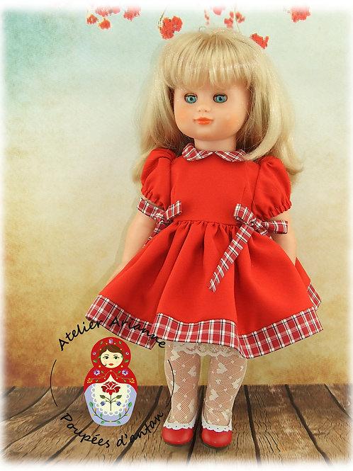 Décembre 1998 Tenue pour poupée Emilie,  Modes et Travaux
