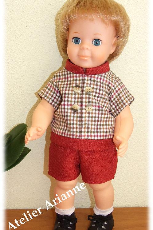 Tenue Octobre 1969 pour poupées Modes et Travaux, Michel , Jean-Michel