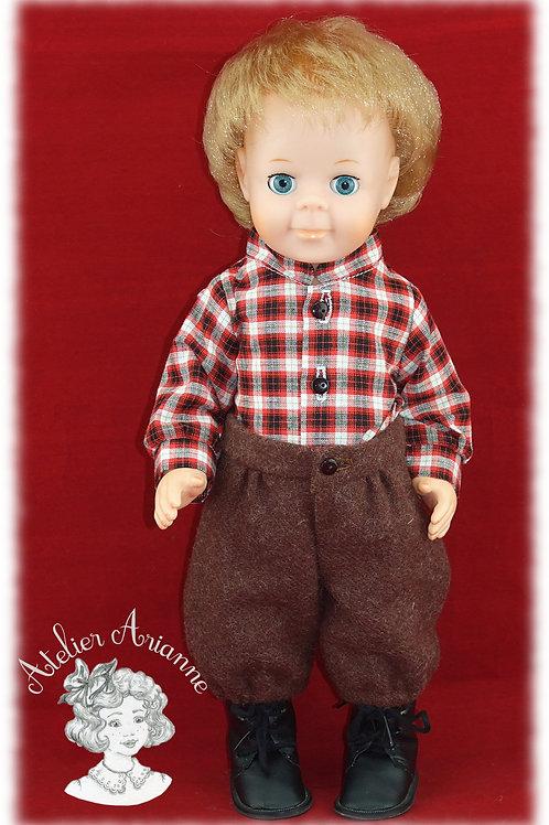 Tenue Octobre 1984 pour poupée Jean-Michel de Modes et Travaux