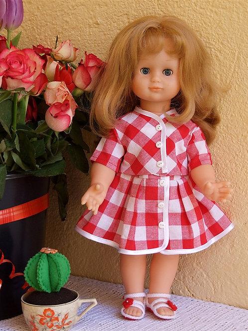 Tenue pour poupée Emilie Modes et Travaux Mai 1961