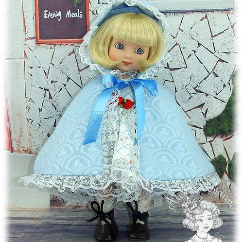 Opaline-Cape pour poupée Ann-Estelle et autres petites poupées de 23-28 cm