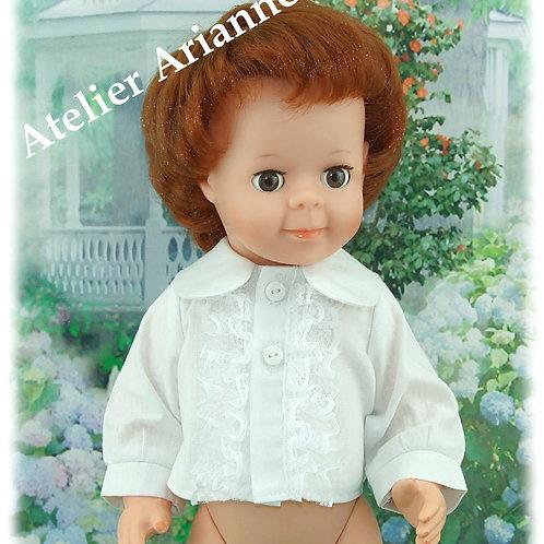 Chemise pour poupée Modes et Travaux : Jean Michel ou Michel 40 cm