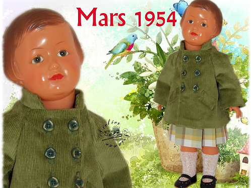 Commande pour Nathalie Tenue pour poupée Françoise Modes et Travaux Mars 1954