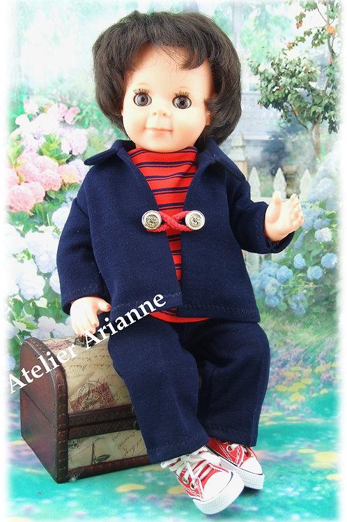 Tenue pour poupée Michel Modes et Travaux Juin 1966