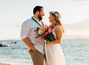 White Rock Maui Beach Wedding Elopement