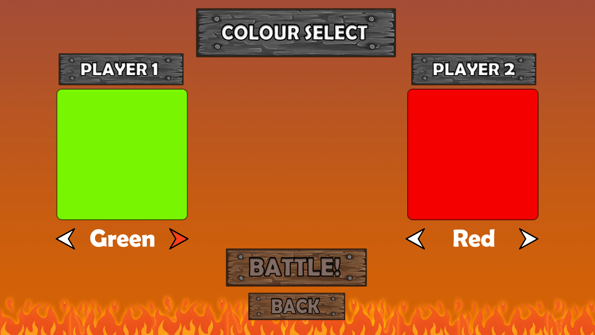 Tank colour select