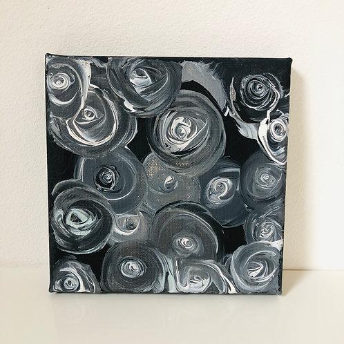black roses Leinwand Bild Original