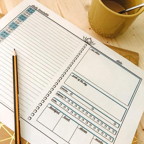 daily timetable - dein täglicher Planer