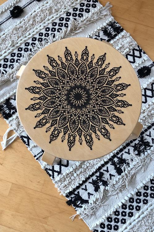 Aufkleber Mandala Nr 5 black