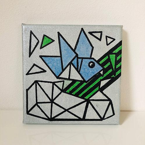 geometric bird Leinwand Bild Original