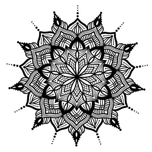 "Malvorlage ""Mandala 7"""