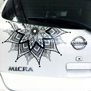 Mandala Sticker Nissan Micra Aufkleber