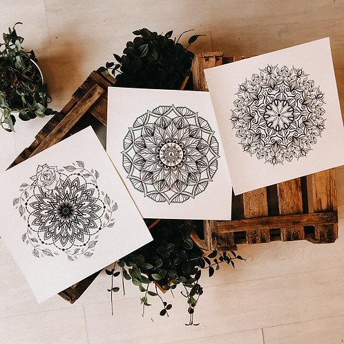 Mandala Kunstdruck