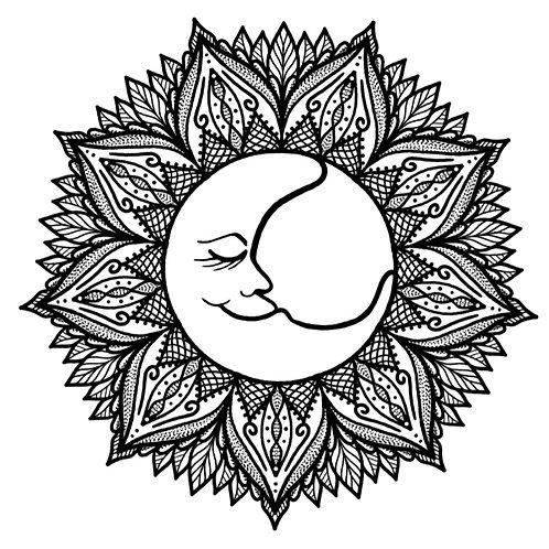 """Malvorlage """"Mandala Moon"""""""