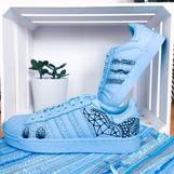 Adidas Superstars blau handbemalt