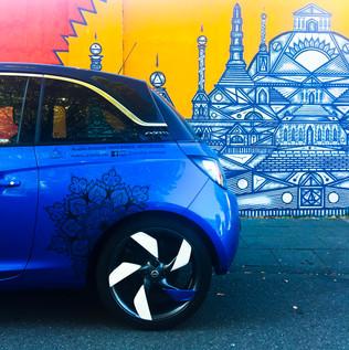 Mandala Sticker Set Opel Adam blau