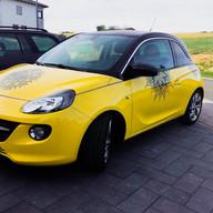 Mandala Sticker Set Opel Adam gelb