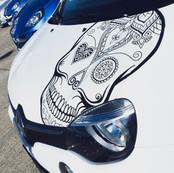 Mandala Sugar Skull Aufkleber Auto