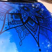 Mandala Aufkleber exra groß Motorhaube