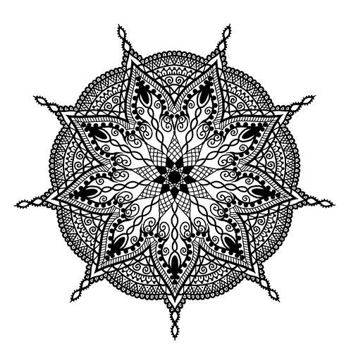 "Malvorlage ""Mandala 8"""