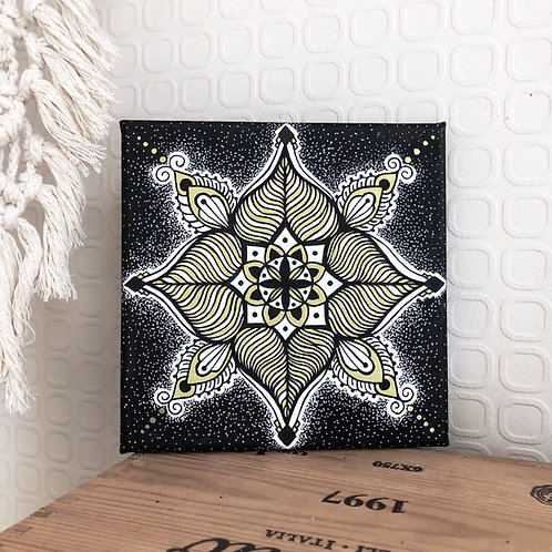 Leinwand Mandala black x gold