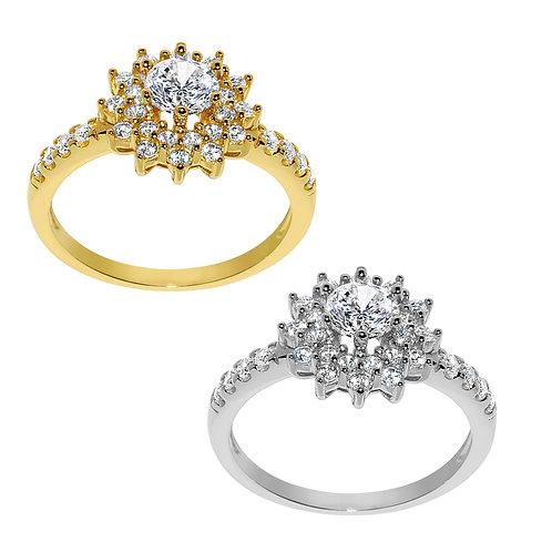 14k Yellow or White Gold 1ct TGW Round-cut Diamonette Fashion Cocktail Ring