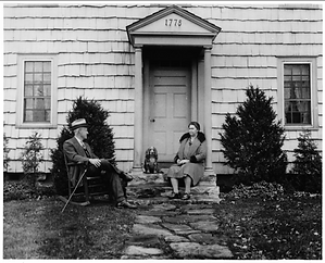 Stephen and Jane Mather and dog 1929.png