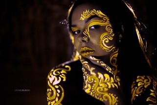 Neon body art