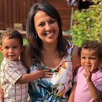 diane robinson portrait with children
