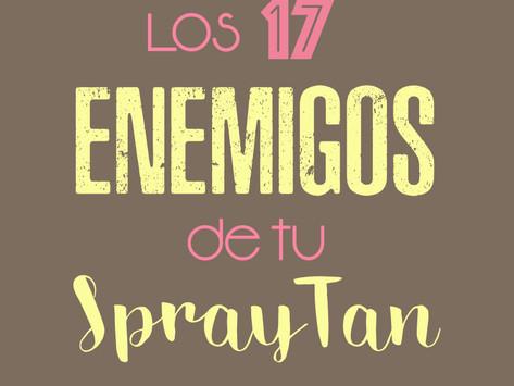 Los 17 Enemigos de tu Spray Tan