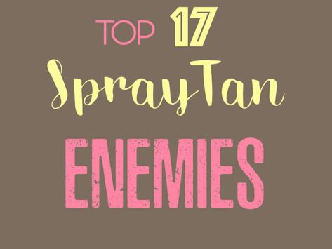 Top 17 Spray Tan Enemies