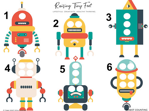Robots Activity Mat | 1 Page!