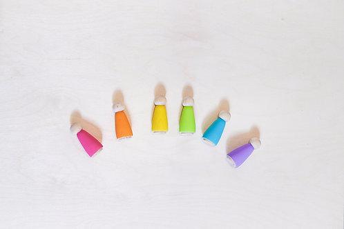Wooden Peg Dolls-Easter Colors!