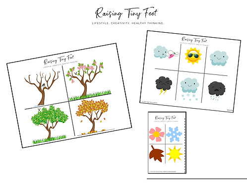 Seasons + Weather Activity Mat | 2 Pages!